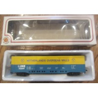 Vintage Bachmann Ho Scale Lunx 70254 Netherlands Overseas Mill Box Car Orign