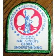 Girl Scouts Gs Vintage Uniform Patch Bienvendias Global Understanding  World