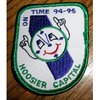 Girl Scouts Gs Vintage Uniform Patch Hoosier Capital On Time 1994-95