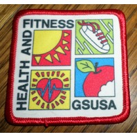 Girl Scouts Gs Vintage Uniform Patch Health And Fitness Gsusa