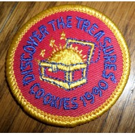 Girl Scouts Gs Vintage Uniform Patch Discover The Treasures Cookies 1990