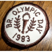 Girl Scouts Gs Vintage Uniform Patch Br. Olympic Day 1983