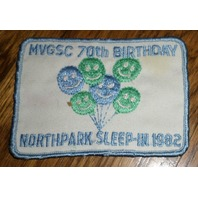 Girl Scout Gs Vintage Uniform Patch Mvgsc 70Th Birthday Northpark Sleep-In 1982