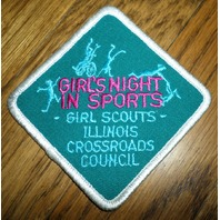 Girl Scout Gs Vintage Uniform Patch  Girl'S Night In Sports Illinois Crossroads