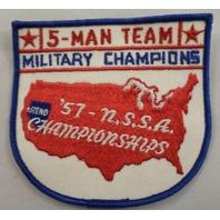 Rare 1957 5-Man Team Military Champions Reno Nevada Nssa N.S.S.A. Uniform Patch