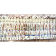 Gold And Tan Varigated Brush Fringe 2 Yard Upholstery Lamp Curtaintrim B-16