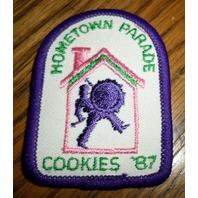 Girl Scouts Gs Vintage Uniform Patch Hometown Parade Cookies 1987