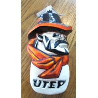 Glasscots Ornament Utep Miners College Team Spirit