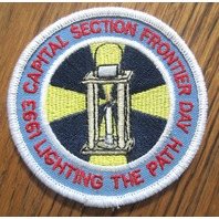 Royal Rangers Rr Uniform Patch 1993 Capital Sect. Frontier Day Lighting The Path