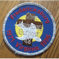 Royal Rangers Rr Uniform Patch Fredricksburg Silver Anniv Outpost Virginia 1996
