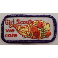 Girl Scouts Gs Vintage Uniform Patch Girl Scout We Care Cornicopia Horn  #Gspp
