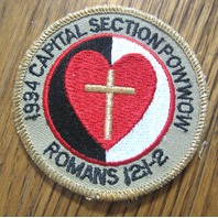 Royal Rangers Rr Uniform Patch 1994 Capital Section Pow Wow Romans 12:1-2 Cross