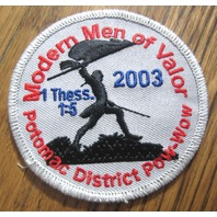 Royal Rangers Rr Uniform Patch Modern Men Of Valor Potomac District Pow Wow 2003