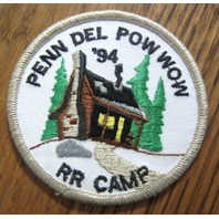 Royal Rangers Rr Uniform Patch Pen Del Pow Wow 1994 Rr Camp Log Cabin