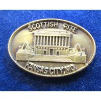 Scottish Rite Kansas City Mo. Monument Pictured Uniform Hat Lapel Pin
