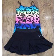 Justice Girls Sparkle Skirt Shrug Lot Sz 8 10 New Heart Peace Cami