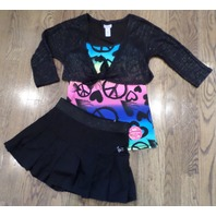 Justice Girls Sparkle Skirt Shrug Lot Sz 8 10 New Heart Peace Cami