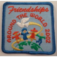 Girl Scouts Gs Vintage Uniform Patch  #Gsbl Friendship Around The World 2002