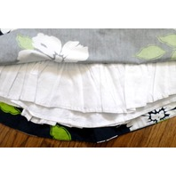 Hollister Navy Tropical Spring Print Skirt Ruffle Slip Sz M Womens Teens
