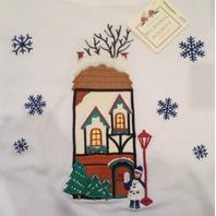 Nwt Womens Petite Sz Pl Bechamel Winter Snowflake Home 4 The Holidays Shirt