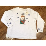 Nwt Womens Petite Sz Pl Bechamel Winter Snowflake Home 4 The Holidays Shirt
