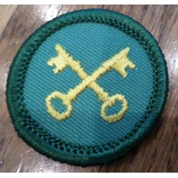 Jr. Girl Scout Green Junior Merit Badge Housekeeper Keys