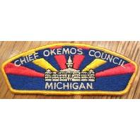 Chief Okemos Shoulder Without Fleur Di Lis Uniform Boy Scout Patch Bsa