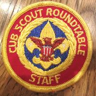 Cub Scout Roundtable Staff Uniform Scout Patch Bsa