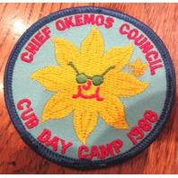 Chief Okemos Council Cub Day Camp 1988 Uniform Scout Patch Bsa