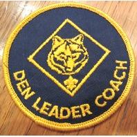 Blue Gold Webelos Den Leader Coach Uniform Boy Scout Patch Bsa