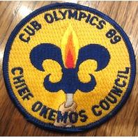 Cub Olympics Chief Okemos Council 1989 Uniform Scout Patch Bsa