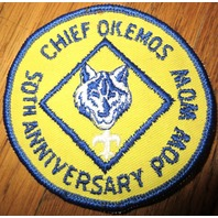 Chief Okemos 50Th Anniversary Pow Wow Uniform Scout Patch Bsa