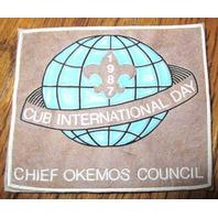 Boy Scout Uniform Patch Chief Okemos Cub International Day 1987 Council