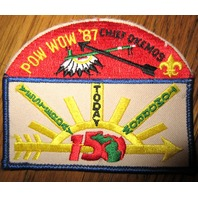 Boy Scout Patch Vintage 1987 Chief Okemos Pow Wow Yesterday Today Tomorrow