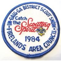 In Gaig Ga District Firelands Scouting Spirit 1984 Bsa Boy Scout Uniform Patch