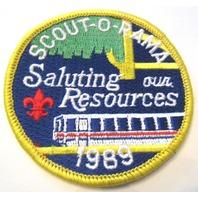 Scout-O-Rama Saluting Our Resources 1989 Uniform Boy Scout Patch Bsa