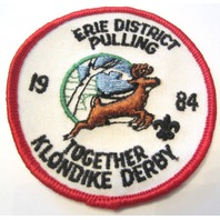 Erie District Pulling 1984 Together Klondike Derby Bsa Boy Scout Uniform Patch
