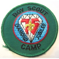Boy Scout Camp Diamond Jubilee 75 Years Boy Scout Uniform Patch