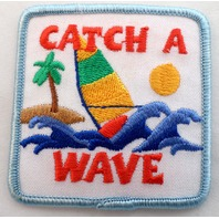 Girl Scout Gs Uniform Patch Catch A Wave Sail Boat Ocean Beach #Gsbl