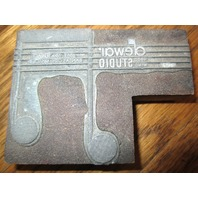 Unusual Printers Block Stamp Dewai Wood Winds Studio Musical Instrument Co Kc Mo