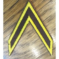 Royal Rangers Vintage Brown And Yellow Chevron Rank Advancement Award