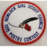 Vintage Girl Scout Hemlock 1995 Poetry Contest Council  #Gs-Rd
