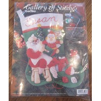 Bucilla Santa's Workshop Felt Stocking Kit New 33508 felt applique stocking