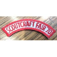 Vintage Uniform Patch Boy Scout Bsa Rocker Tab Scoutcraft Fair 1970