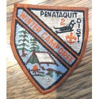 Bsa Boy Scout Uniform Patch Pentaquit District 2 Winter Camporee 1973