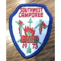 Bsa Boy Scout Uniform Patch Southwest Camporee 1973 Arrowhead Shape Bsa