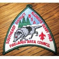 Vintage Boy Scout Patch Scout 1983 Klondike Derby Firelands Area S E District