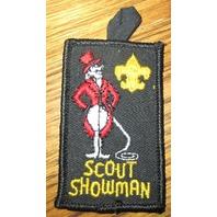 Vintage Boy Scout Patch Scout Showman Gauze Backing Lion Tamer Bsa