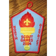 Vintage Boy Scout Patch Scout Games 2004 North District Torch