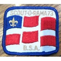 Vintage Boy Scout Patch Scout Family Scoutorama Bsa Flag Fleur Di Lis